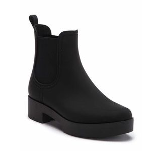 Jeffrey Campbell Black Waterproof Boot